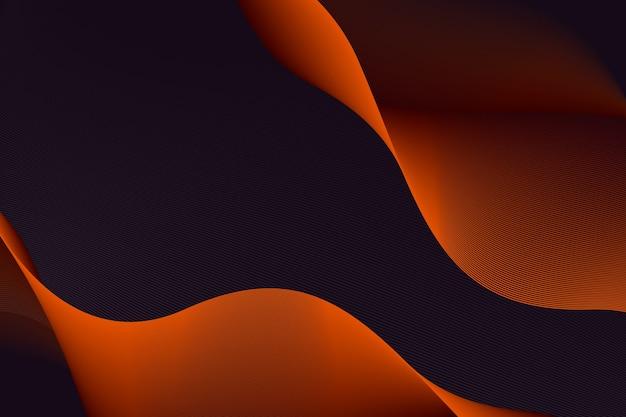 Sfondo ondulato grafico scuro