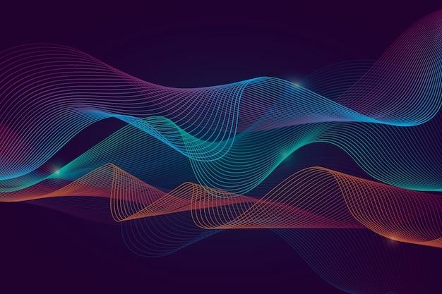 Sfondo ondulato multicolore