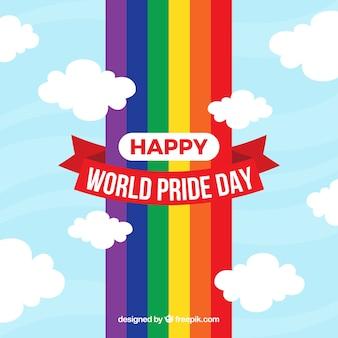 Sfondo orgoglio lgbt con arcobaleno