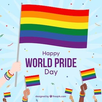Sfondo orgoglio lgbt con molti colori