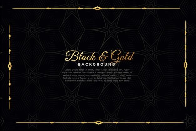 Sfondo ornamentale di lusso nero e oro