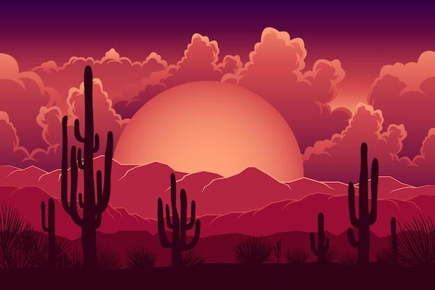 Sfondo paesaggio desertico per videoconferenze