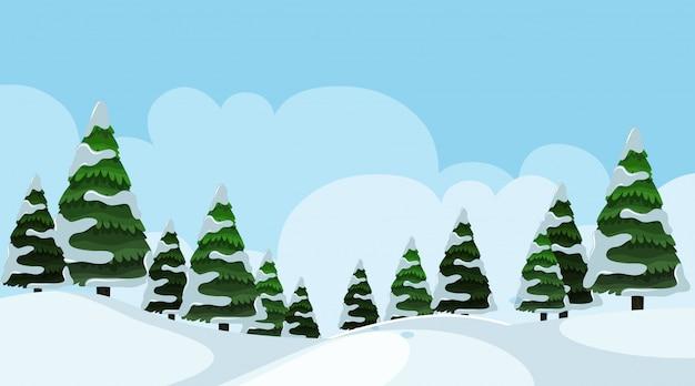 Sfondo paesaggio di inverno