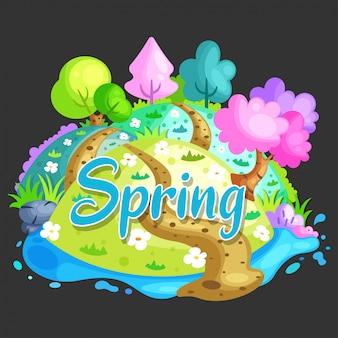 Sfondo paesaggio di primavera