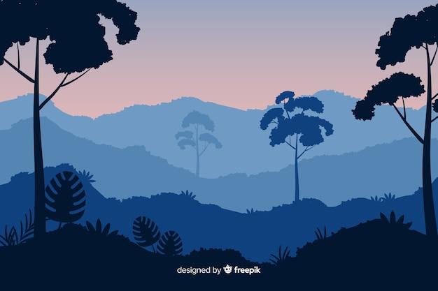 Sfondo paesaggio foresta tropicale