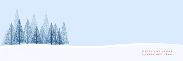 Sfondo paesaggio invernale di natale.