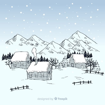 Sfondo paesaggio invernale