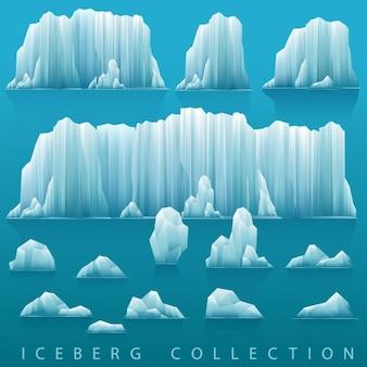Sfondo parallax di iceberg e mare