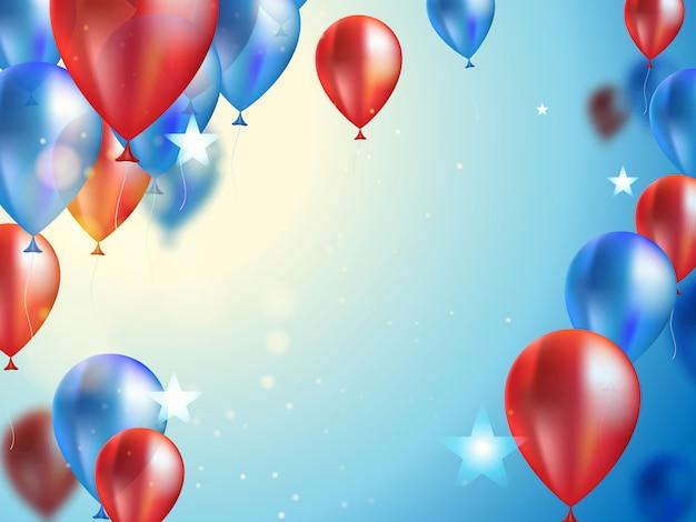 Sfondo per la celebrazione con palloncini