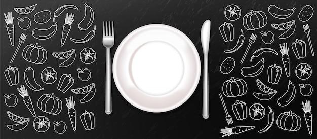 Sfondo piatto bianco