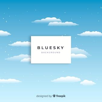 Sfondo piatto cielo blu