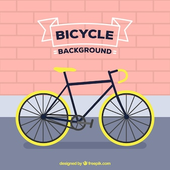 Sfondo piatto con bici professionale