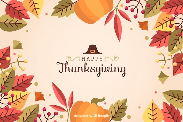 Sfondo piatto del ringraziamento su sfondo rosa