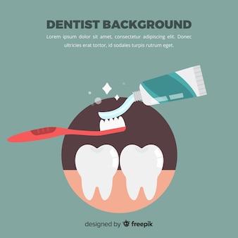 Sfondo piatto dentista