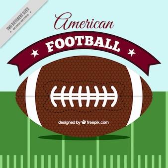 Sfondo piatto di football americano