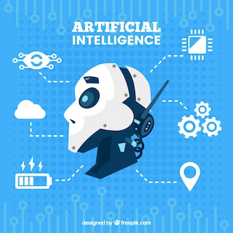 Sfondo piatto di intelligenza artificiale