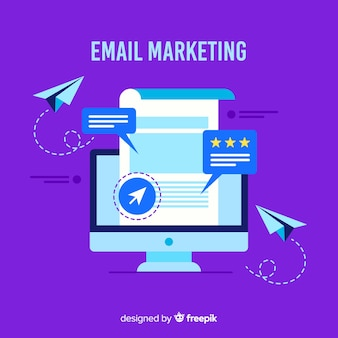 Sfondo piatto di marketing e-mail