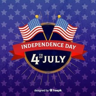 Sfondo piatto giorno dell'indipendenza