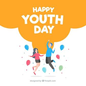 Sfondo piatto giorno della gioventù