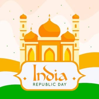 Sfondo piatto giorno della repubblica indiana