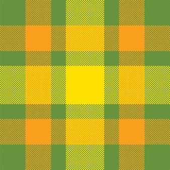 Sfondo pixel. plaid moderno senza cuciture. tessuto a trama quadrata. tessuto scozzese in tartan. ornamento di madras di colore di bellezza.