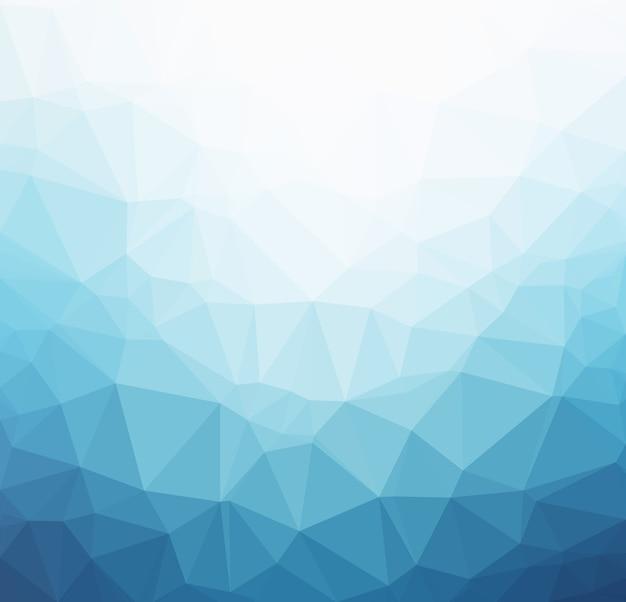 Sfondo poligonale azzurro
