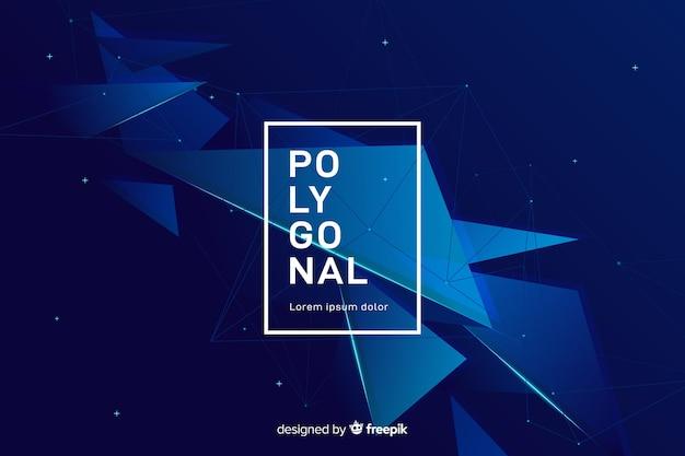 Sfondo poligonale blu scuro