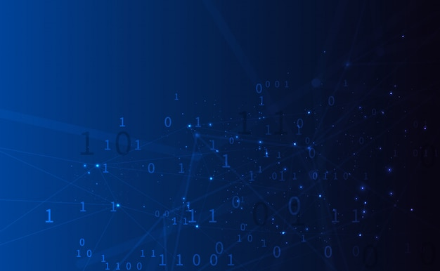 Sfondo poligonale con linee e punti collegati che formano un cerchio sulla presentazione digitale di array di visualizzazione di big data