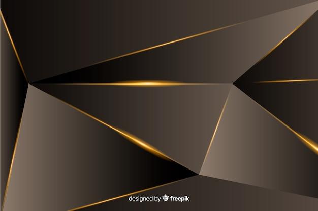 Sfondo poligonale scuro di lusso