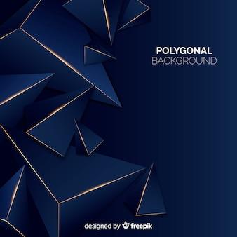 Sfondo poligonale scuro e dorato