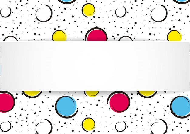 Sfondo pop art coriandoli colorati. grandi macchie e cerchi colorati