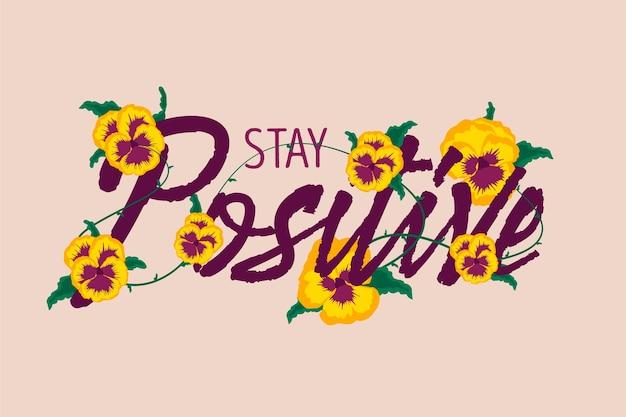 Sfondo positivo con fiori