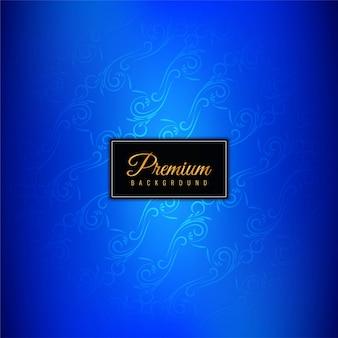 Sfondo premium di lusso blu decorativo
