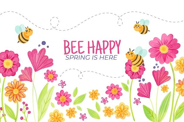 Sfondo primavera ad acquerello