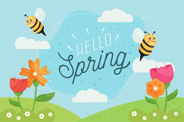 Sfondo primavera disegnati a mano