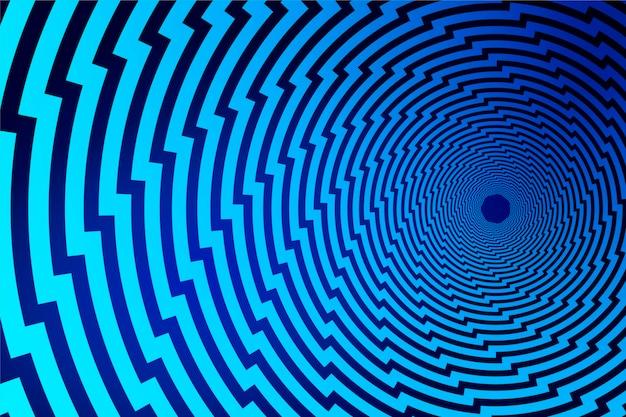 Sfondo psichedelico di ilussione ottica