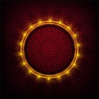 Sfondo puntini con il cerchio incandescente