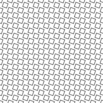 Sfondo quadrato astratto senza soluzione di continuità monocromatico - disegno vettoriale geometrico in bianco e nero da quadrati angolari