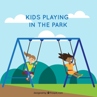 Sfondo ragazze swinging