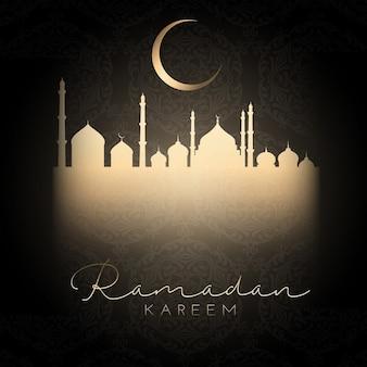 Sfondo ramadan kareem con un design semplicistico