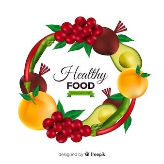 Sfondo realistico cibo sano