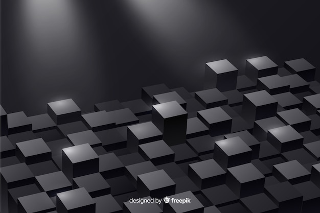 Sfondo realistico cubi pavimento