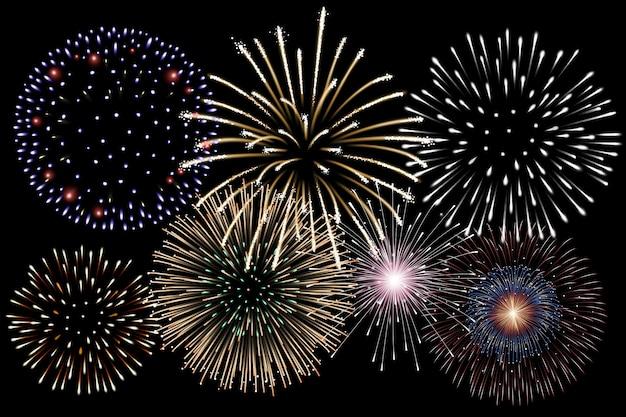 Sfondo realistico di fuochi d'artificio