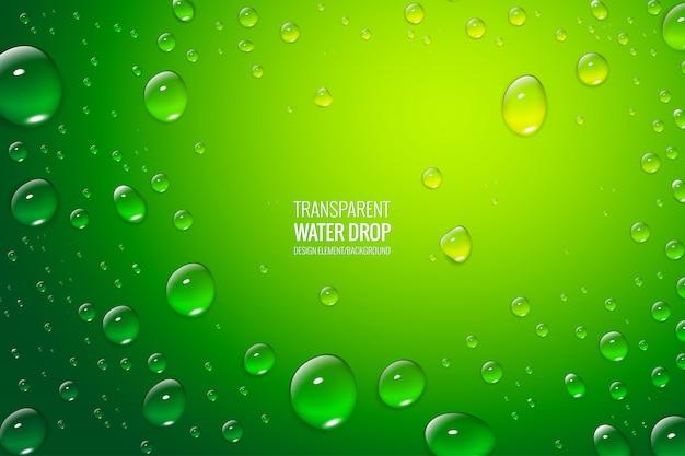 Sfondo realistico di gocce d'acqua completamente modificabili