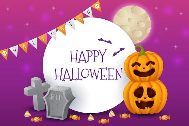 Sfondo realistico di halloween