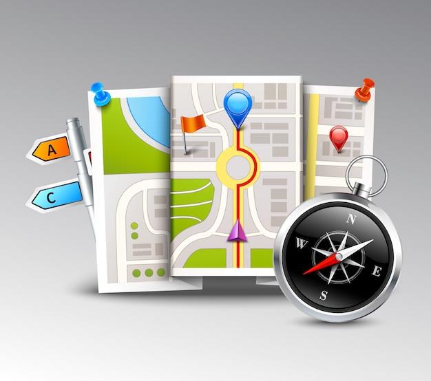 Sfondo realistico di navigazione