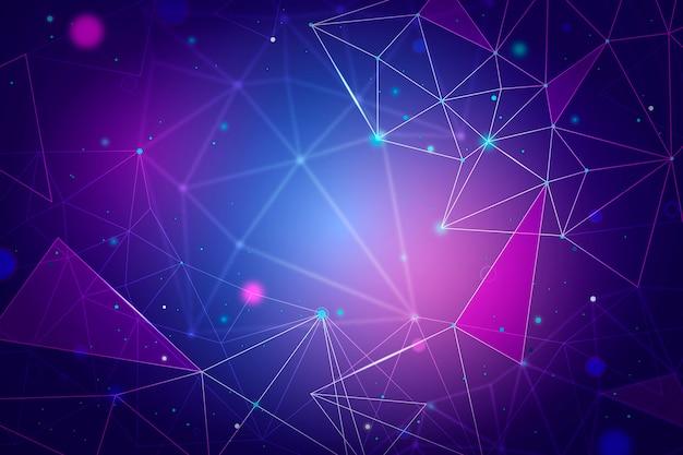 Sfondo realistico di particelle di tecnologia