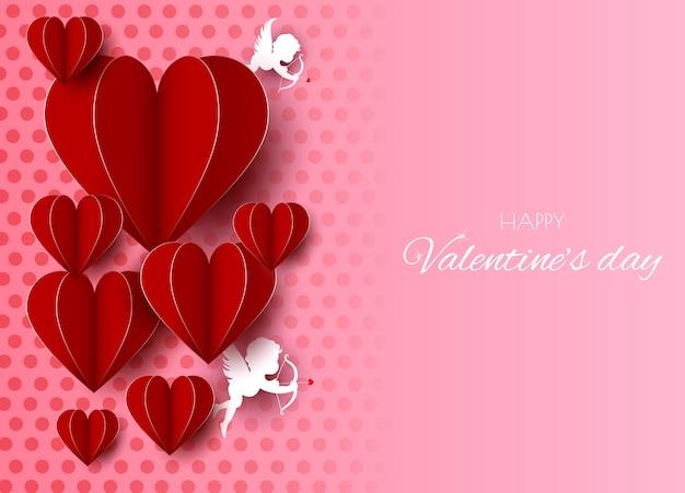 Sfondo realistico di san valentino