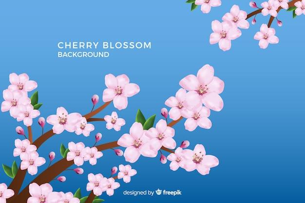 Sfondo realistico fiore di ciliegio