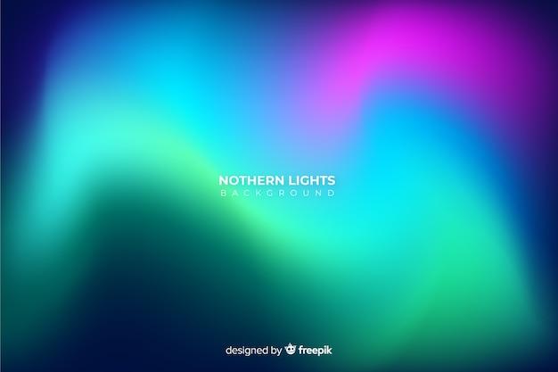 Sfondo realistico luci del nord